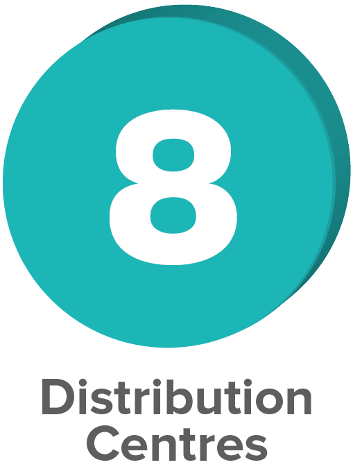 7 Distribution Centres