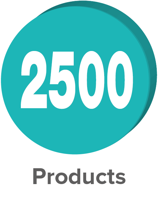 2500 Products